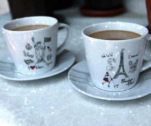 cities, coffee, and cups image