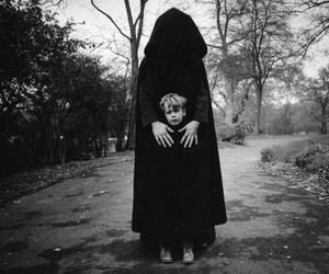 black and white, boy, and death image