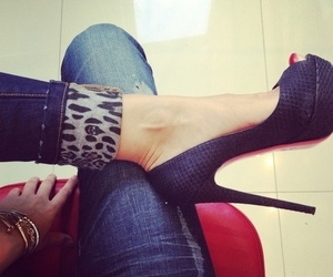 heels, shoes, and leg image
