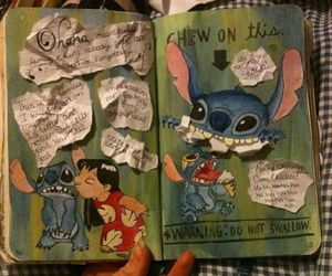 keri smith, lilo&stich, and wreck this journal image