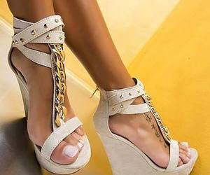 chain, heel, and white image