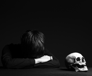 skull, boy, and goth image