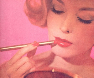 retro, vintage, and pink image