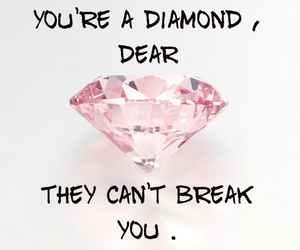 diamond, quotes, and girl image