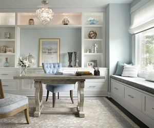 office interior, chic look, and office & workshop image