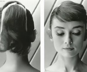 audrey hepburn, hair, and black and white image