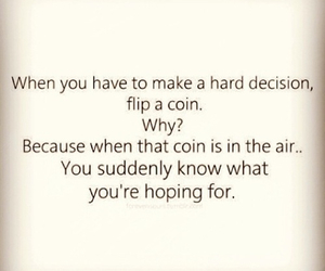decisions, coin, and hope image