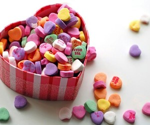 candy, heart, and love image