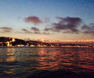 bridge, istanbul, and sea image