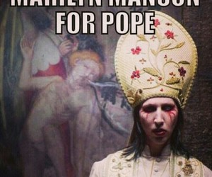 Marilyn Manson and pope image