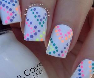 nails, polka dot nails, and cute image
