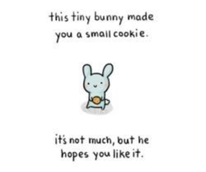 bunny, cute, and cookie image