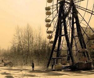 ferris wheel, winter, and chernobyl image