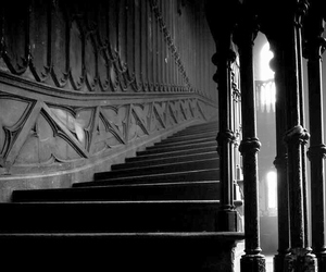 black and white, antique, and architecture image