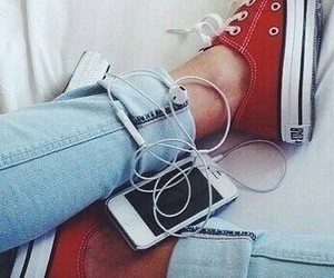 converse, iphone, and music image