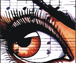 brown, eye, and music image