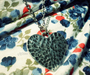fashion, floral, and heart image