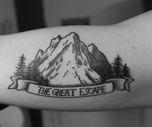 skin, tattoo, and the great escape image