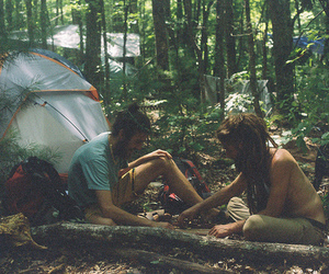 camping, hippie, and nature image