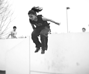 girl, parkour, and sport image