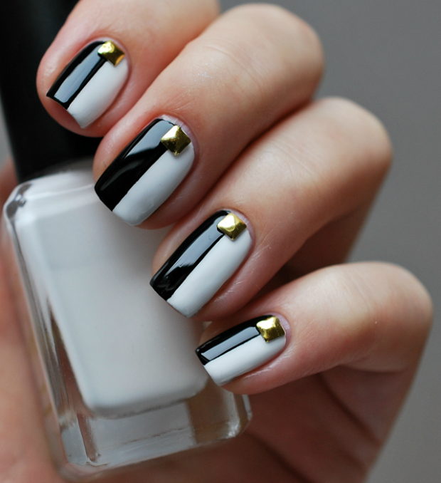 The 15 best black and white nail arts fashion diva design prinsesfo Gallery
