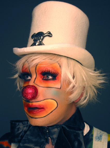 clown, face paint, and hair image