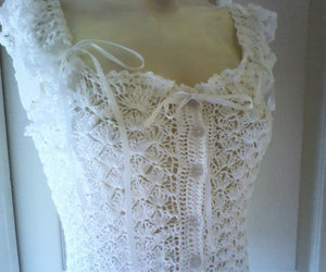 white lace top, gypsy top, and irish crochet image