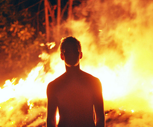 boy and fire image