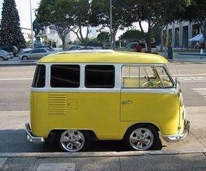 yellow, car, and van image