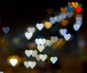 light, hearts, and heart image