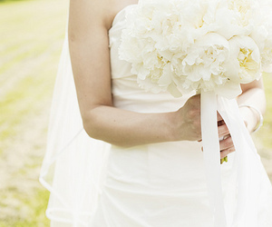 bride, marriage, and roses image