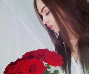 girl, cute, and roses image