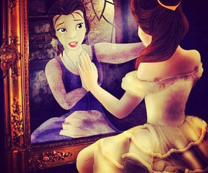 art, disney, and beauty and the beast image