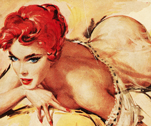 pinup, pulp, and retro image