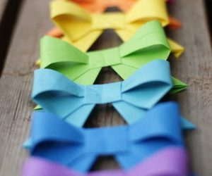 bow, colorful, and rainbow image