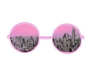 city, overlay, and pink image