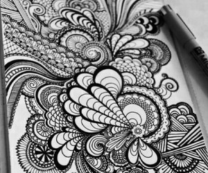 drawing, black and white, and white image