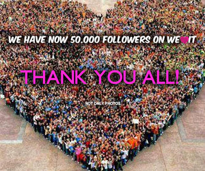 followers, thanks, and heart image