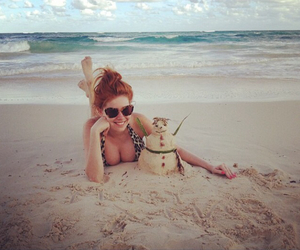 beach, summer, and palina rojinski image