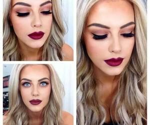 makeup, make up, and lips image