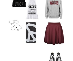 outfit, skirt, and vans image