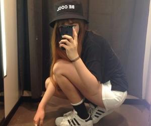 girl, adidas, and pale image