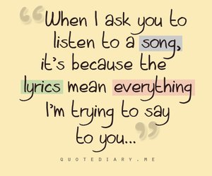 quote, text, and song image