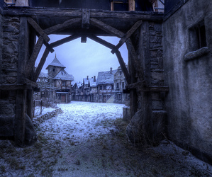 snow, fairytale, and medieval image