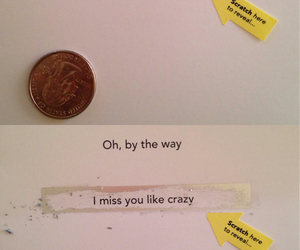 card, i miss you, and quarter image