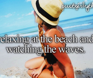beach, summer, and girly image