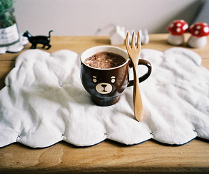 cute, bear, and cup image