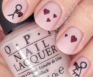 nails, love, and hearts image