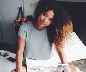 beautiful, hair, and curly hair image