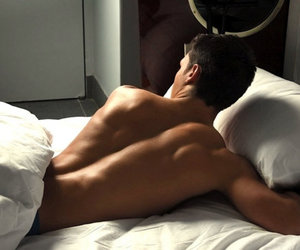 bed, men, and james maslow image